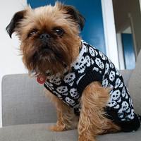 'Beetlejuice' Skull Knitted Dog Jumper
