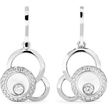 Chopard - Happy Dreams 18-karat white gold diamond earrings