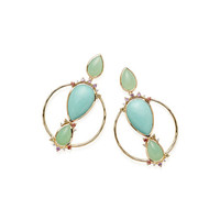 Ippolita Prisma Front-Facing Hoop Earrings in Portofino