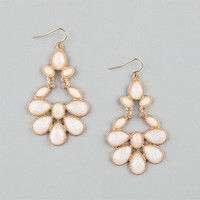 Full Tilt Facet Teardrop Earrings Ivory One Size For Women 20779516001