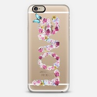 FLORAL LOVE - CRYSTAL CLEAR PHONE CASE iPhone 6 case by Nika Martinez | Casetify