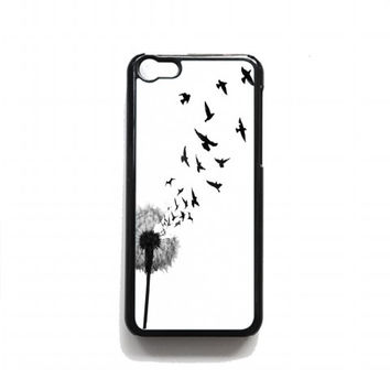 dandelion bird tattoo For iphone 5c case