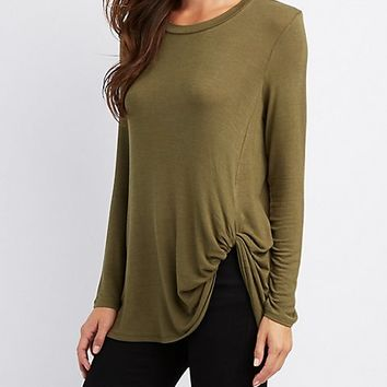 Twisted-Detailed Tunic Top | Charlotte Russe