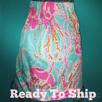 Ready To Ship! Custom Lilly  Pulitzer Jellies Be Jammin' Skirt