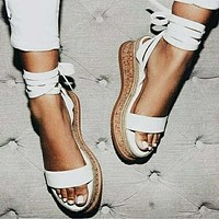 Fashion hot selling women's shoes with fish-billed platform sandals