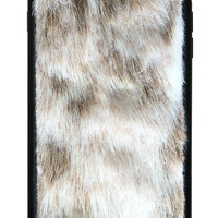 Snow Leopard Faux Fur iPhone 6 Plus/6s Plus Case