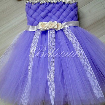 Woven tutu dress – lace tutu dress – flower girl tutu – baby tutu dress – wedding tutu dress – birthday tutu dress – party tutu dress