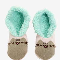 Pusheen Pink Cozy Slippers