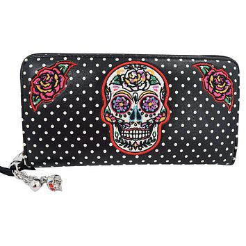 Banned Apparel Sugar Skull Mexican Day of the Dead Dia De Muertos Wallet