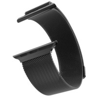 Stainless Steel 14k Black Gold Finish 42mm Milanese Loop Apple Watch Mesh Band