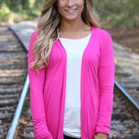 All the Time Cardigan: Pink