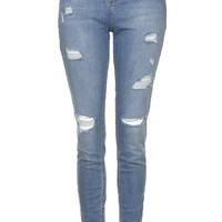 TALL MOTO Bleach Authentic Ripped Skinny Jeans - Bleach