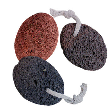 Natural Paddle Cushion Massage Brush Earth Lava Pumice Stone Remove Dead Skin Foot Massage SPA