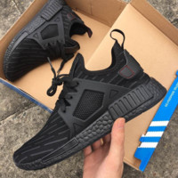 """Adidas"" NMD XR1 Duck Camo Women Men Running Sport Casual Shoes Sneakers Camouflage Black (Grey stripe)"