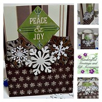 Peace and Joy Handmade Christmas Card . Ready to Ship.