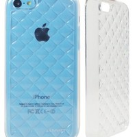 LUVVITT® 3D JEWEL Soft Slim Trasparent TPU Case / Cover for iPhone 5C (LIFETIME WARRANTY) - Clear