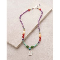 Silver OM Chakra Necklace