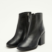 Black leather high heel ankle boots - What's new - Shoes - Woman - PULL&BEAR United Kingdom