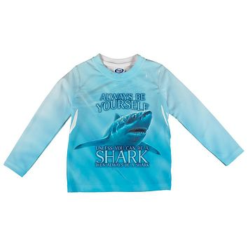 Always Be Yourself Unless Great White Shark All Over Infant Long Sleeve T Shirt