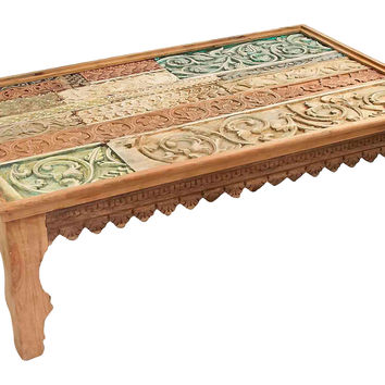 Exotic Multi-Carved Coffee Table