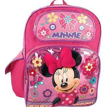 Disney Minnie Mouse Shine Pink Large Backpack