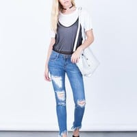 frayed jeans | www.2020ave.com