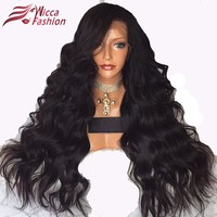 Dream Beauty Full Lace Wigs For Black Women Pre Plucked Body Wave 150% Density Brazilian Non-Remy Hair 100% Human Hair
