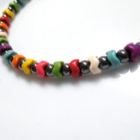 Magnetic Hematite Bracelet - Colorful Bracelet, Magnetic Bracelet, Anklet, Necklace, or Pet Collar