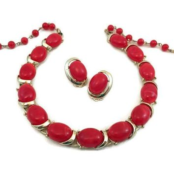Vintage Costume Jewelry - Jewelry Set - Coro Set - Necklace And Earring Set - 1960's - Gift For Her - Gift For Mom - 40th birthday