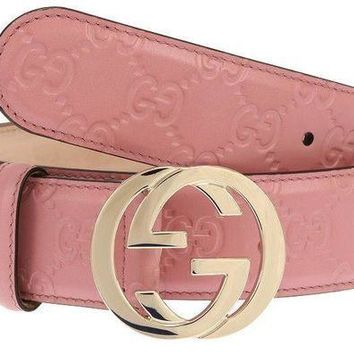 Gotopfashion NEW GUCCI LADIES MAUVE PINK GG GUCCISSIMA LEATHER G BUCKLE BELT 100/40