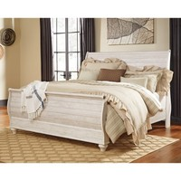 Signature Design by Ashley Willowton Sleigh Bed - Walmart.com