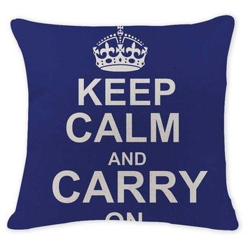 Keep Calm and Carry On - Navy Blue