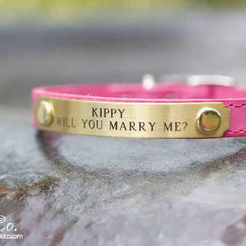 Marry Me Dog Collar