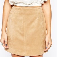 New Look Suedette Mini Aline Skirt