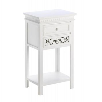 Fleur De Lis Double Drawer Side Table