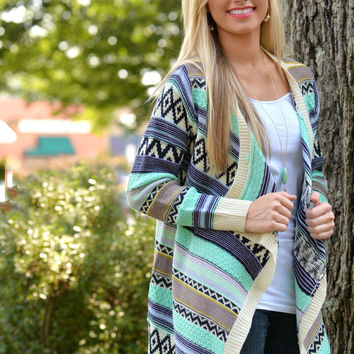 Stripe Life Sweater Cardigan