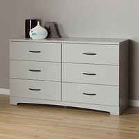 6-Drawer Double Dresser Bedroom Furniture