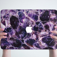 Amethyst Macbook Air 11 13 Hard Case Marble Macbook Pro 13 15 Hard Case Marble Macbook Pro Retina Case Laptop Cover Marble Macbook 12 Case