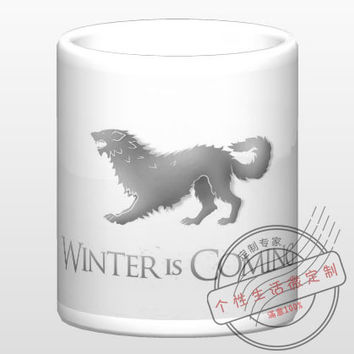 New Game of Thrones House STARK Winter is Coming Ceramic Coffee Mug White Color Or Color Changed Cup