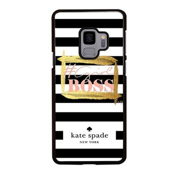 KATE SPADE GIRL BOSS Samsung Galaxy S3 S4 S5 S6 S7 S8 S9 Edge Plus Note 3 4 5 8 Case