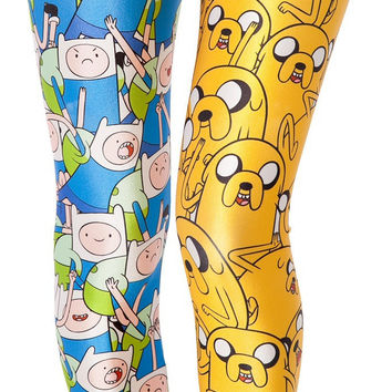 Womens Playful Finn And Jake Adventure Time Leggings
