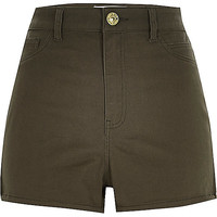 River Island Womens Khaki high waisted shorts