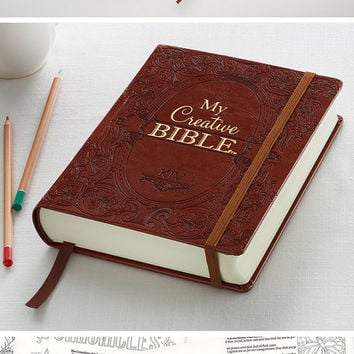 Coloring Bible for Faith Journaling - My Creative bible - Bible Journaling  -Gift for Adults Teens Mom Sister Aunt Friend - Journaling Bible