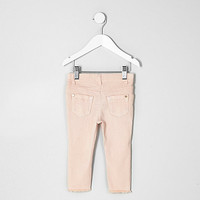 Mini girls light pink skinny jeans