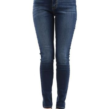 Solid Dark Skinny Denim