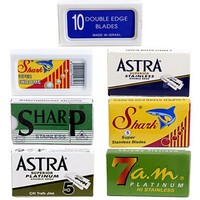Double Edge Safety Razor Blade Variety Pack - 100 Blades!
