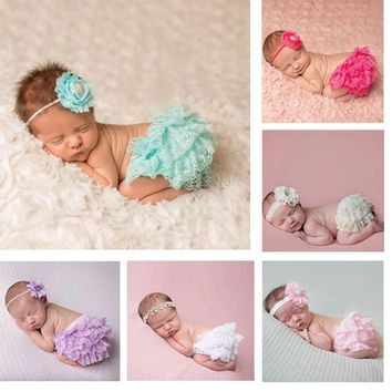 Baby Girl Ruffle Bloomer Princess Pettiskirt Panties Diaper Cover Nappy Shorts Briefs Summer Bottom Pants Nappy Covers DS19