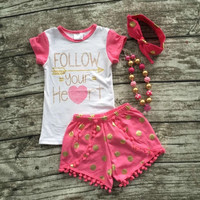 Follw Your Heart Summer Pom Poms Outfit and Accesories