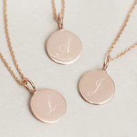 Sia Classic Initial Sterling Silver Pendant Necklace