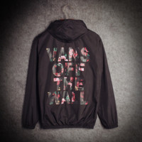 Vans Off The Wall Black Single Layer Thin Windbreaker